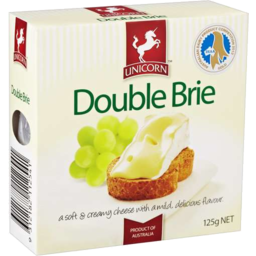 Photo of Unicorn Double Brie 125gm