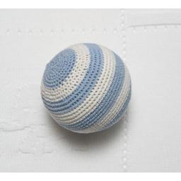Photo of  Crochet Ball Blue/White Stripe
