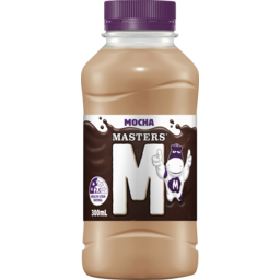 Photo of Masters Mocha Flavoured Milk 300ml Btl (6)