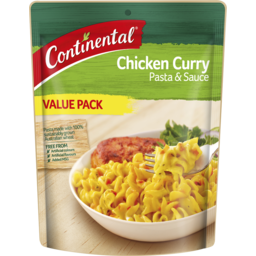 Photo of Continental Chicken Curry Pasta & Sauce Value Pack 150g 150g