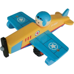 Photo of Wooden Airplane Blue