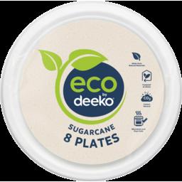 Photo of Eco By Deeko Sugarcane Side Plates 8 Pack