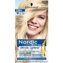 Photo of Schwarzkopf Nordic Blonde Ultimate Lightener L1++ Hair Colour One Application