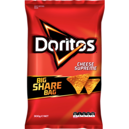 Photo of Doritos Corn Chips Party Bag Cheese Supreme 300g