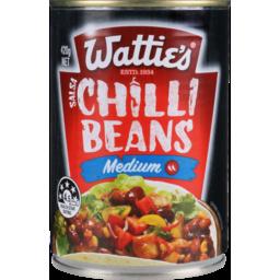 Photo of Watties Chilli Beans Medium 420g