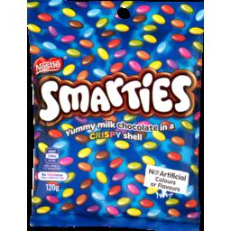 Photo of Nestle Smarties Chocolate Bag 120g 120g