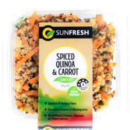 Photo of Sunfresh Spiced Quinoa & Carrot Salad 300g