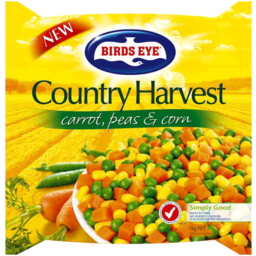 Photo of Birds Eye Country Harvest Carrot Peas & Corn 1kg