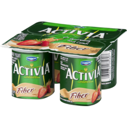 Photo of Dannon Activia Fiber Strawberry And Cereal Lowfat Yogurt - 4 Ct