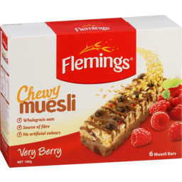 Photo of Flemings Chewy Muesli Very Berry 6 pack