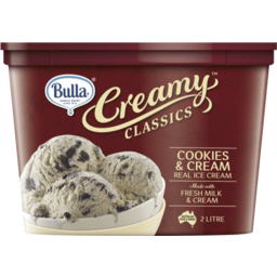 Photo of Bulla Premium Creamy Classics Cookies & Cream 2L