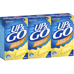 Photo of Sanitarium Up & Go Liquid Breakfast Banana 3x250ml