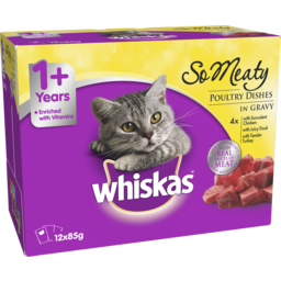 Photo of Whiskas Oh So Meaty Poultry Dishes 12x85g