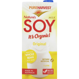 Photo of Pure Harvest Milk Natures Soy Original (1L)
