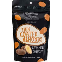 Photo of Donovans Thin Coated Almonds Caramel 150g