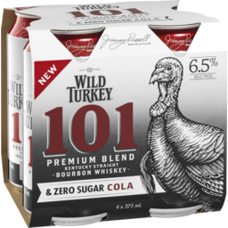 Photo of Wild Turkey 101 & Cola Zero Cans