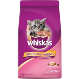 Photo of Whiskas Dry Cat Food Kitten 1.5kg