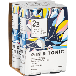Photo of 23rd Street Gin & Tonic 4x300ml