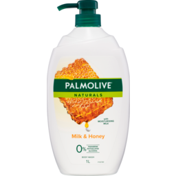 Photo of Palmolive Naturals Milk & Honey Body Wash With Moisturising Milk 0% Parabens Recyclable 1l