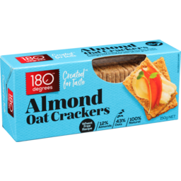 Photo of 180 Degrees Oat Cracker Almond 150g