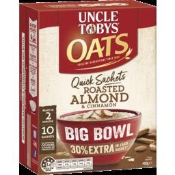 Photo of Uncle Toby Oat Quick Big bowl Almond Cinnimon 10pk