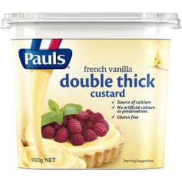 Photo of Pauls Double Thick Custard French Vanilla 900g