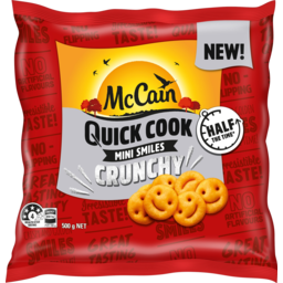 Photo of Mccain Quick Cook Crunchy Mini Smiles 500g