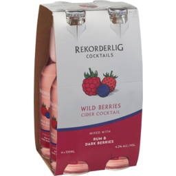 Photo of Rekorderlig Wild Berries Cider Rum Bottles