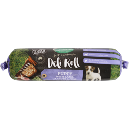 Photo of Nature's Gift Deli Roll With Lamb, Carrots & Peas Chilled Puppy Food 200g