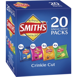 Photo of Smiths Crink Var Bx 20pk 380gm