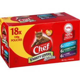Photo of Chef Cat Food Pouch Variety Lovers 18 Pack