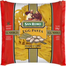 Photo of San Remo Egg Pasta Fettuccine Noodles 250g