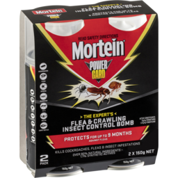 Photo of Mortein Powergard Flea & Crawling Insect Control Bomb 2x150g