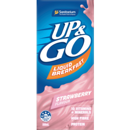 Photo of Sanitarium Up & Go Strawberry Flavour Liquid Breakfast 350ml