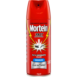 Photo of Mortein Fast Knockdown Odourless Aerosol Fly & Mosquito Killer 250gm