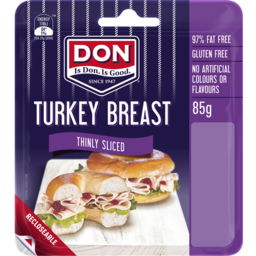 Photo of Don® Turkey Breast Thinly Sliced 44510x85g