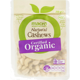 Photo of Macro Organic Raw Cashews 250g