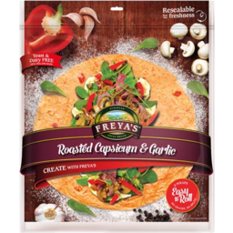 Photo of Freyas Wraps Roasted Capsicum & Garlic 6 Pack 330g