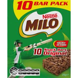 Photo of Nestle Milo Original Snack Bars 10 Pack 210g