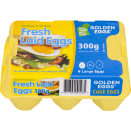 Photo of Golden Eggs Fresh Laid Cage Eggs 300gm