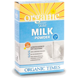 Photo of Organic Times - Milk - Powder - Skim - 300g