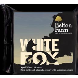 Photo of Belton Farm White Fox Aged White Leicester Cheese 200g