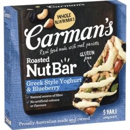 Photo of Carman's Greek Yoghurt & Blueberry Nut Bars 5x32g