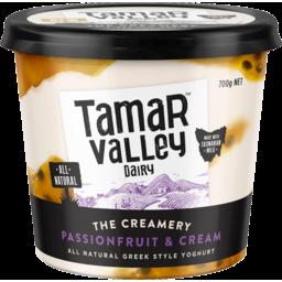 Photo of Tamar Valley The Creamery Passionfruit & Cream Greek Style Yoghurt 700g