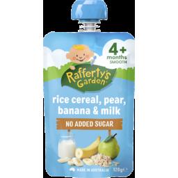 Photo of Raffertys Garden Baby Brekkie Rice Cereal With Banana & Milk 120gm