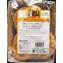 Photo of Britt's Organic Biscuits - Anzac Spelt