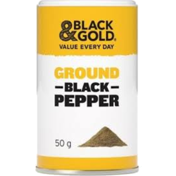 Photo of Black & Gold Ground Black Pepper 50gm