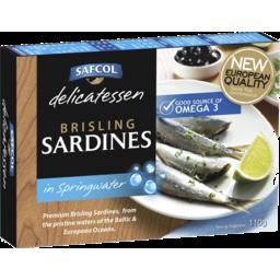 Photo of Safcol Brisling Sardines In Springwater 110g