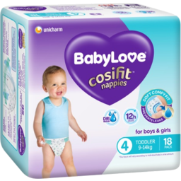Photo of Babylove Cosifit Toddler Nappies 9-14kg 18pk