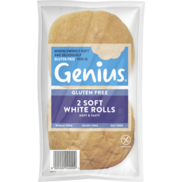 Photo of Genius Gluten Free Genius Soft White Rolls 2pk